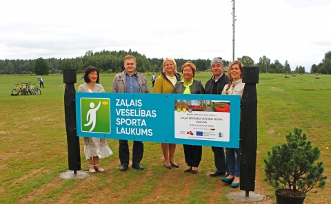 Zaļais brīvdabas veselības sporta laukums